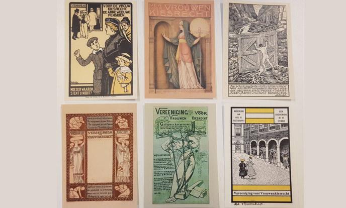 6 kiesrechtkaarten