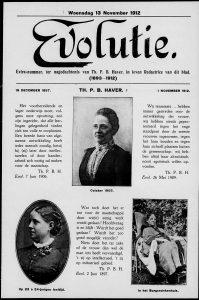 Extra nummer ter nagedachtenis van Theodore Haver, in leven redactrice van het blad Evolutie. Collectie IAV, Atria