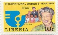 postzegel uit liberia uitgegeven in het kader van jaar van de vrouw