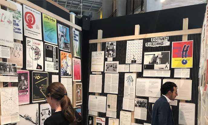 paneel bij tentoonstelling het ontwerp van het sociale