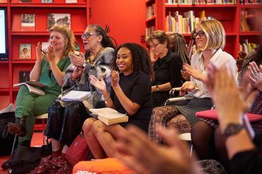 public at f-lab chimamanda adichie in library atria