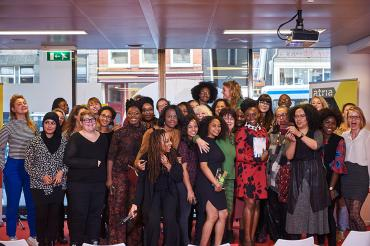 chimamanda adichie and public f-lab in library atria the netherlands